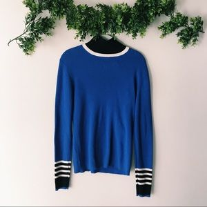 Tory Burch Sport Merino Ribbed Sweater sz L